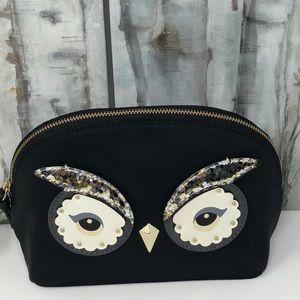 NWT Kate Spade Owl small cosmetic bag